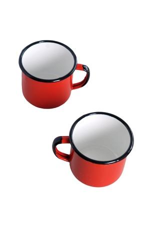 2 つの赤いカップ