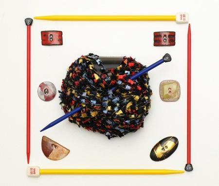 Mat�riaux � tricoter Banque d'images