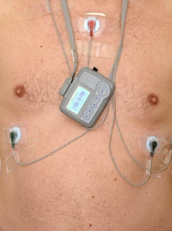nipple man: Man with a heart rate monitor
