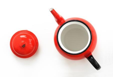 Red tea kettle  Stock fotó