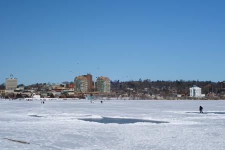 Skyline of Barrie in winter