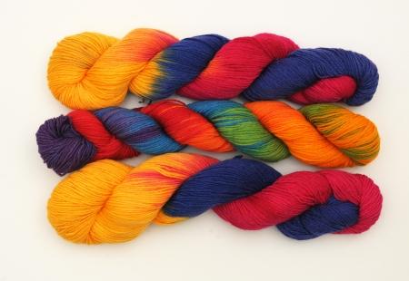 Colorful knitting yarn 写真素材