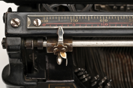 Carriage on an old typewriter