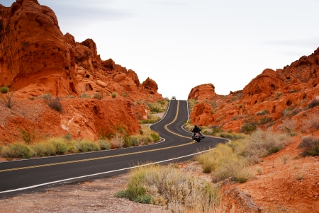 curve road: Road through Valley Of Fire
