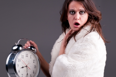 Girl who is late Stock Photo - 16969674