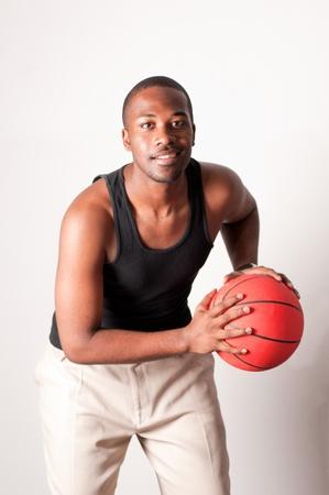 Jeune joueur de basket-ball Banque d'images