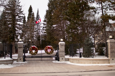 24 Sussex Drive Entrance in Ottawa photo