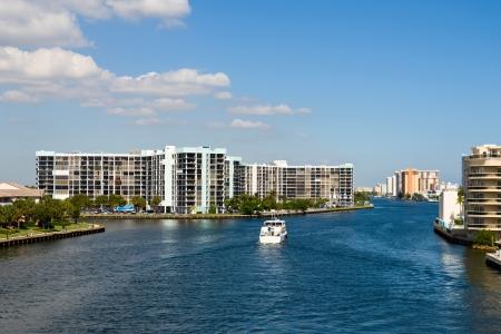 Hallandale skyline in Florida