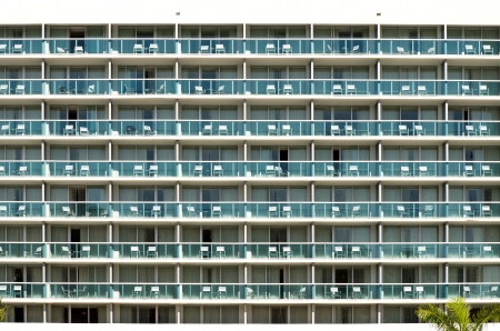 Apartment Balconies with chairs