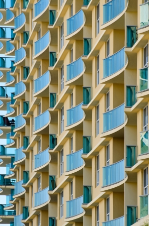 the apartment: Apartment Balconies Stock Photo