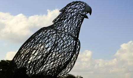 Big metal bird structure