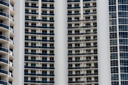 Apartment Balconies Stock Photo