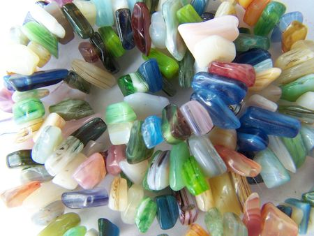Spiral of different gems. Colorful. Background. Macro.