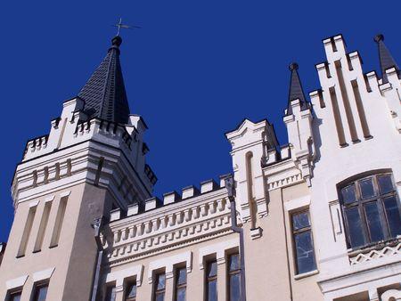 Richards castle. Andryivsky Uzviz. Kyiv, Ukraine. Sunlight. photo