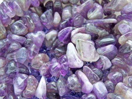 Close-up van de amethist edelsteen stenen.