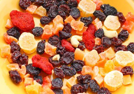 Close-up van noten en gedroogde vruchten
