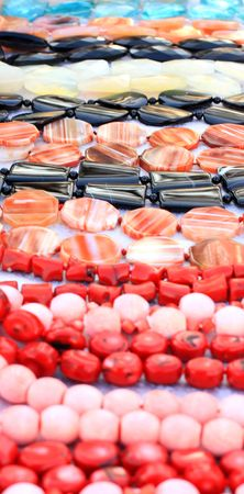 Close-up van de verschillende edelstenen Stockfoto