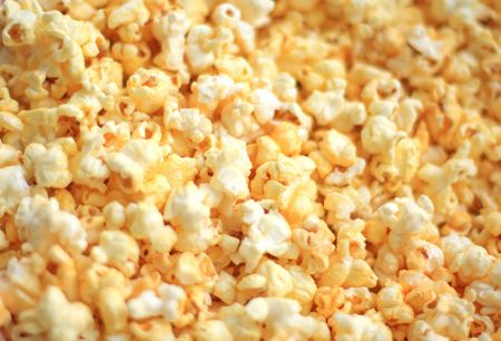 Close-up van de popcorn
