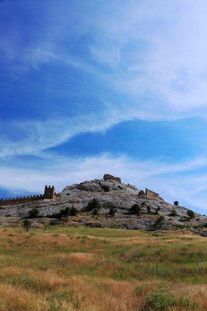 genoese: Top of the Genoese Fortress in Sudac. Crimea, Ukraine. Stock Photo