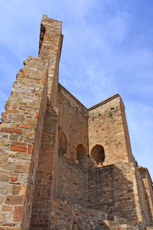 Old ruins in the Sudak Fortress. Crimea, Ukraine. photo