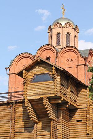 colden: Old Golden Gates in Kiev, Ukraine Stock Photo