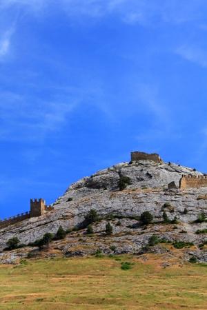genoese: Ruins of old Sudak Genoese fortress Stock Photo