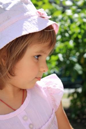 Summer portrait of the little lovely girl Stock Photo - 14690539