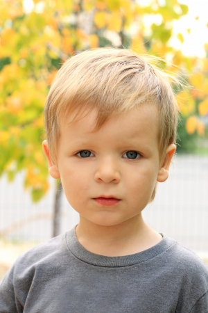 Portret van de mooie kleine jongen