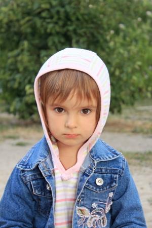 Portrait of the pretty calm little girl Stock Photo - 15261558