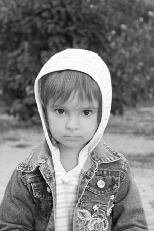 Portrait of the pretty calm little girl  photo