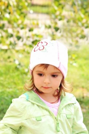 Portrait of the little lovely girl photo