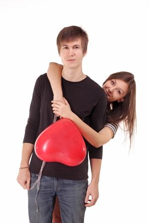 st valentine: Una pareja encantadora celebra el D�a del st. San Valent�n Foto de archivo