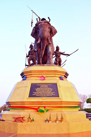 phra nakhon si ayutthaya: The Queen Suriyothai Monument, Phra Nakhon Si Ayutthaya,  Thailand Stock Photo