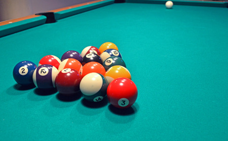 snooker: setting snooker pool