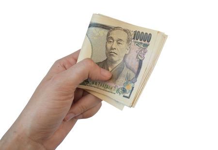 pick money: Recoger dinero 10.000 Yenes japoneses Notas