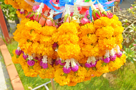 belief: Flower garlands for belief