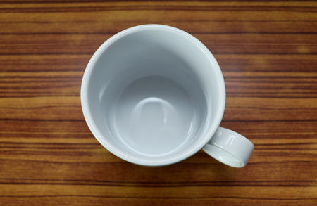 laminate: Emtry white cup on laminate