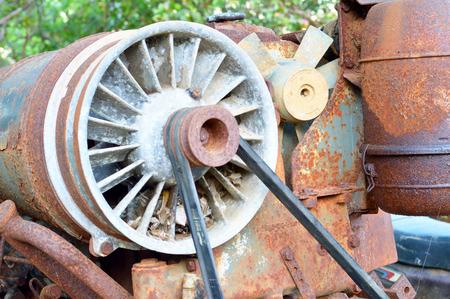 farm machinery: Closeup photo of detail of rusty old farm machinery Stock Photo