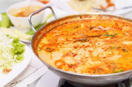 yum: Tom yum Kung hot pot