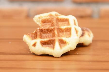 waffles: barquillos Foto de archivo