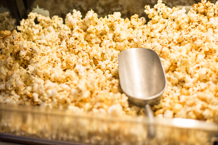 popcorn and ice Scoop in popcorn cabinet.