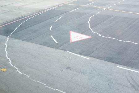Runway in airport. Фото со стока