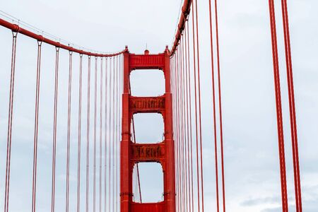 The Golden Gate Bridge in San Francisco, California.