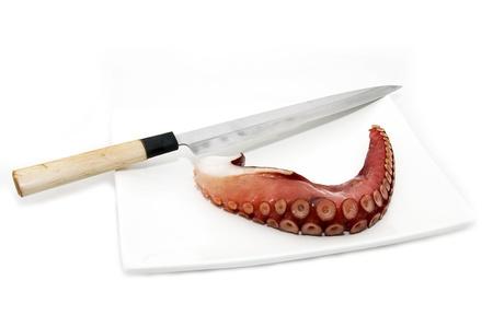 exotics: a piece of octopus Stock Photo