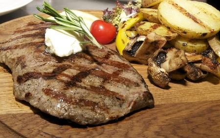 a piece of steak photo
