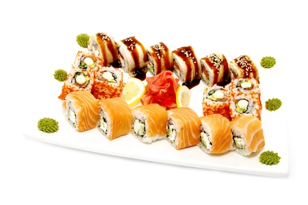 plate of sushi photo