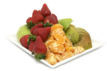 plate with fruits and berries photo