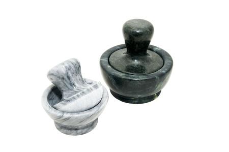 morter: two stone mortars