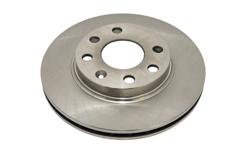 automotive parts brake disc on a white background Фото со стока