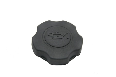 engine oil cap on a white background photo